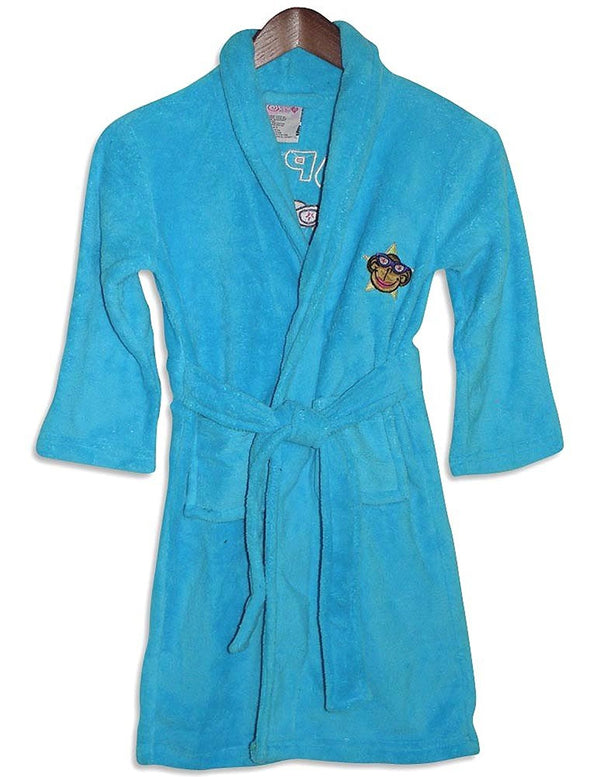 Sweet n Sassy - Little Girls' Microfiber Monkey Robe