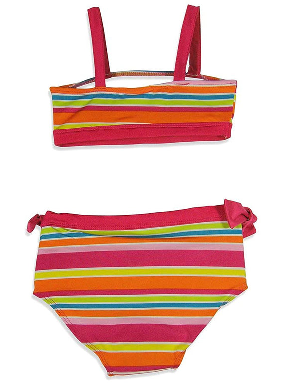 Pink Platinum - Little Girls' Two Piece Striped Bikini Swim Suit