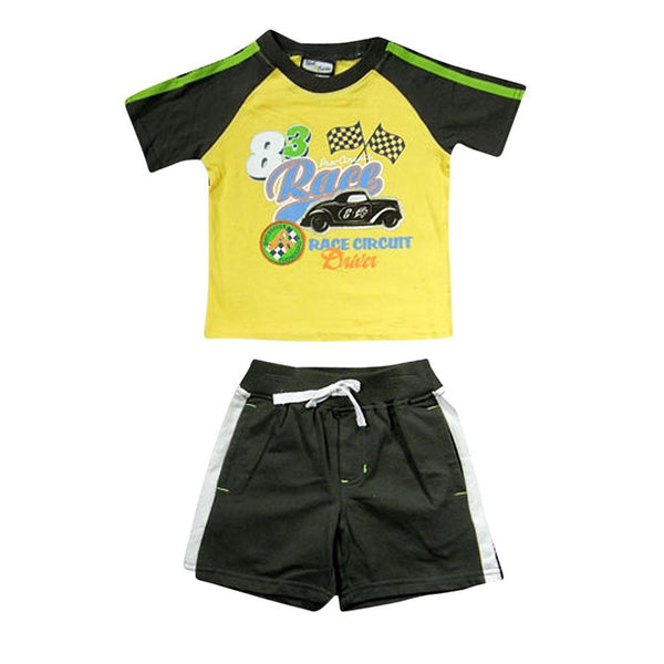 Nick & Eddie - Little Boys Short Sleeve Short Set