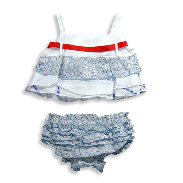 Little Mass - Baby Girls Tank And Diaper Cover Set