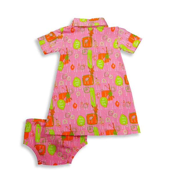 Oinkbaby.com - Baby Girls Short Sleeve Dress Set