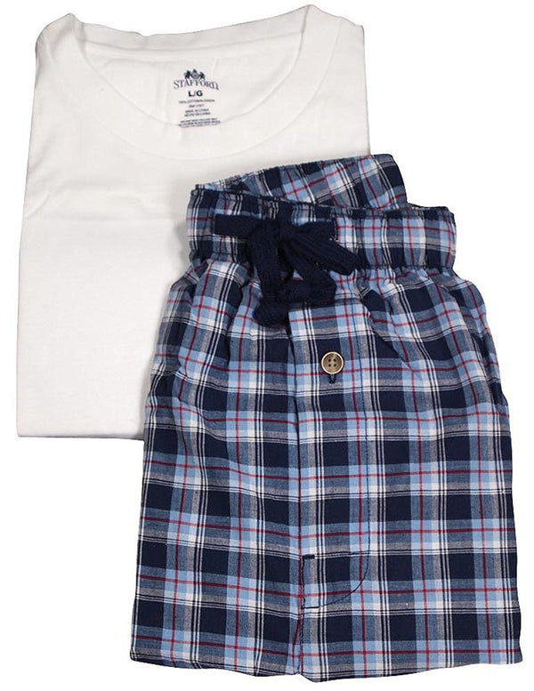 Stafford - Mens Short Sleeve Tee and Pant Pajamas