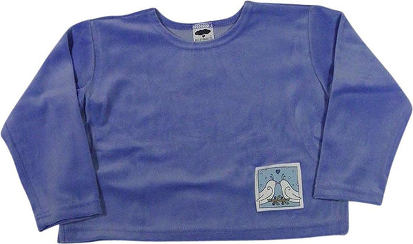 Mulberribush - Little Girls' Long Sleeve Velour Top