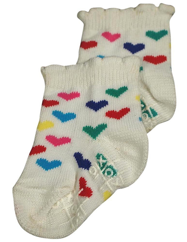 Tic Tac Toe - Little Girls' Heart Socks
