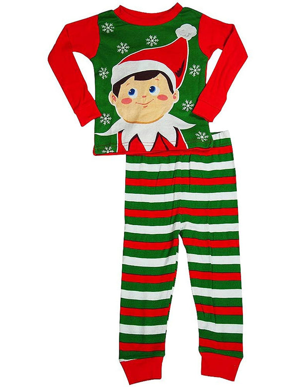 Elf on the Shelf - Little Boys Long Sleeve Elf Holiday Pajamas