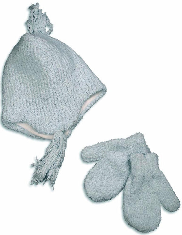Winter Warm-Up - Little Girls Chenille Hat And Mitten Set