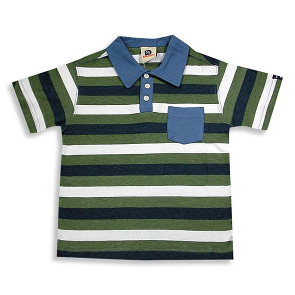 Dogwood Clothing - Little Boys Striped Short Sleeve Polo
