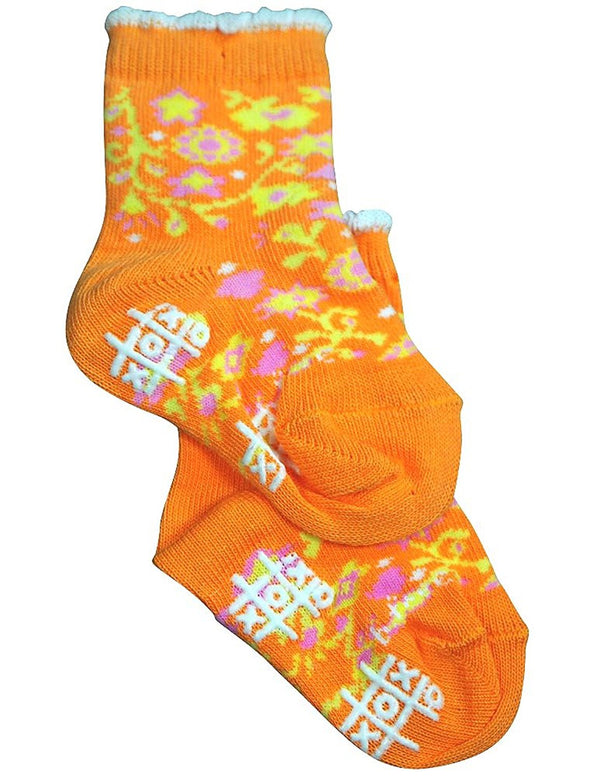 Tic Tac Toe Girls Flower Sock