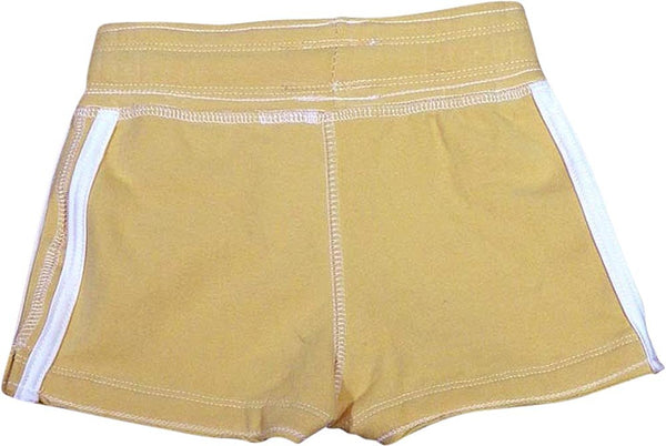 Purple Orchid - Big Girls' Gym Short, Yellow 26786-7