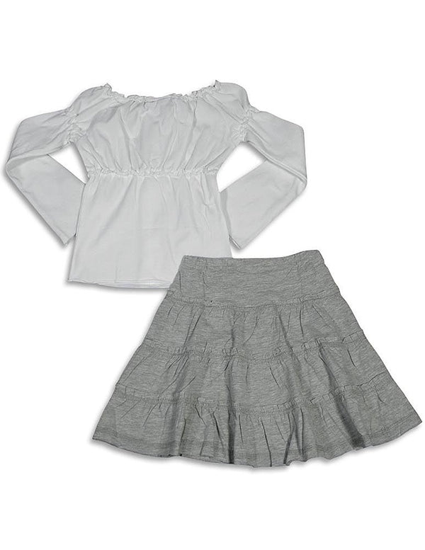 Mish - Little Girls Long Sleeve Skirt Set