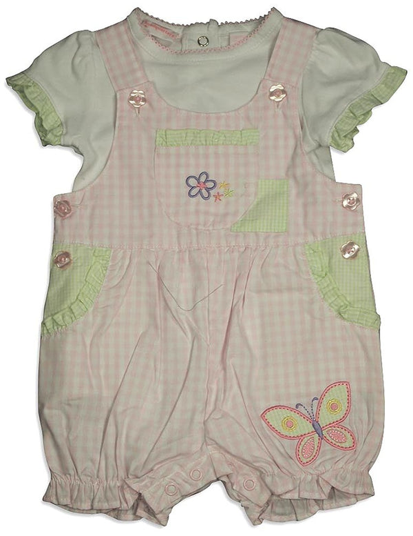 Baby Headquarters - Baby Girls Short Sleeve Coverall Set