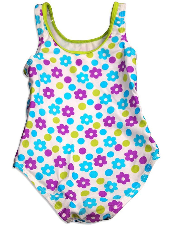 Baby Bunz - Little Girls 1 Piece Flower Swimsuit