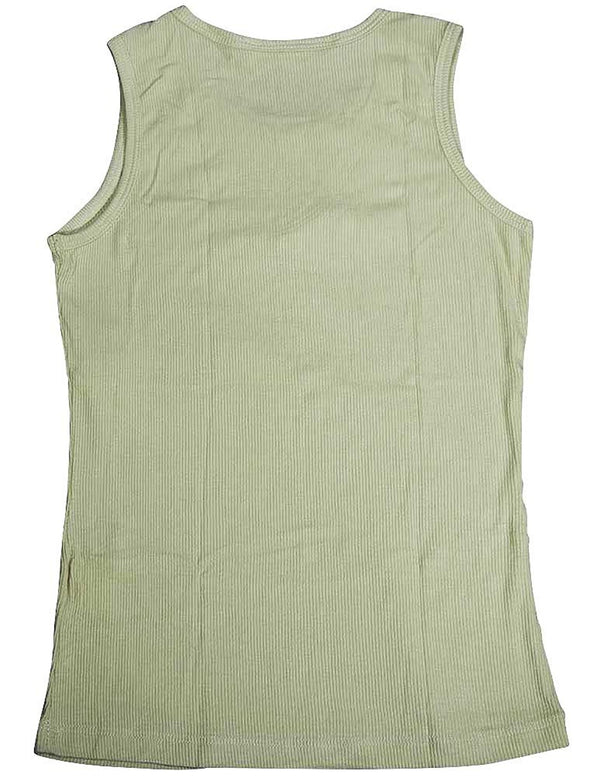 Monkey Wear - Big Girls' Decorative Ribbed Tank