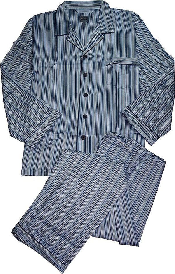 Signature by Majestic International - Mens Big Long Sleeve Cotton Pajamas