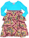 Lipstik Little Girls - Little Girls Long Sleeve Tiered Dress