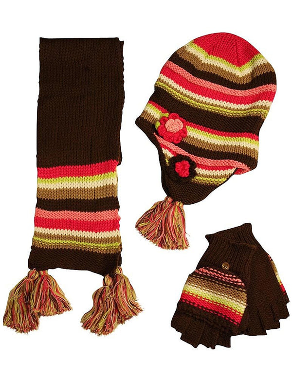Fashion Cuties - Big Girls' Hat Scarf and Glove Set