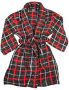 Private Label - Little Boys Fleece Plaid Robe