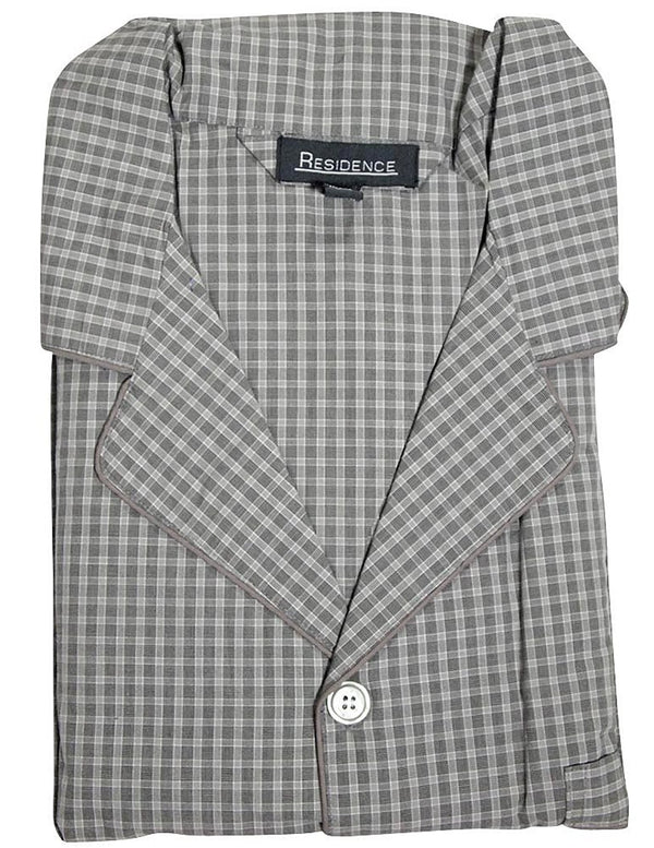 Private Label - Mens Big and Tall Broadcloth Plaid Long Sleeve Pajamas