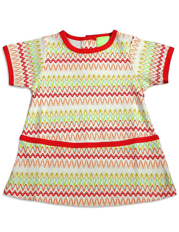 Snopea - Baby Girls Frazzle Razzle Short Sleeve Dress