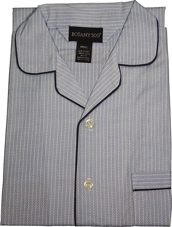 Botony 500 - Mens Long Sleeve Broadcloth Nightshirt Gown