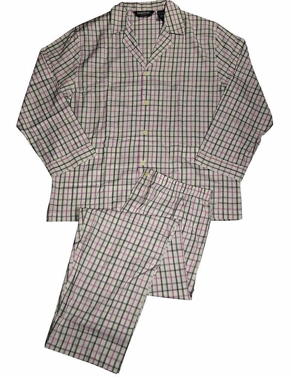 Knothe Lux - Mens Long Sleeve Broadcloth Pajamas