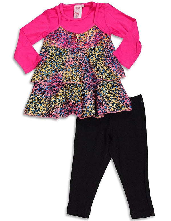 Me Me Me by Lipstik - Little Girls Long Sleeve Pant Set Asst Fabrics