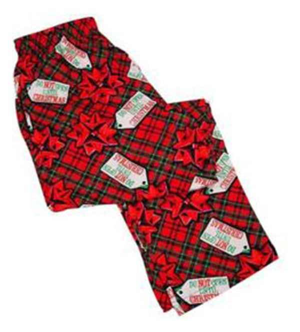 Fun Boxers-Mens Do Not Open Lounge Pants, Red 37223