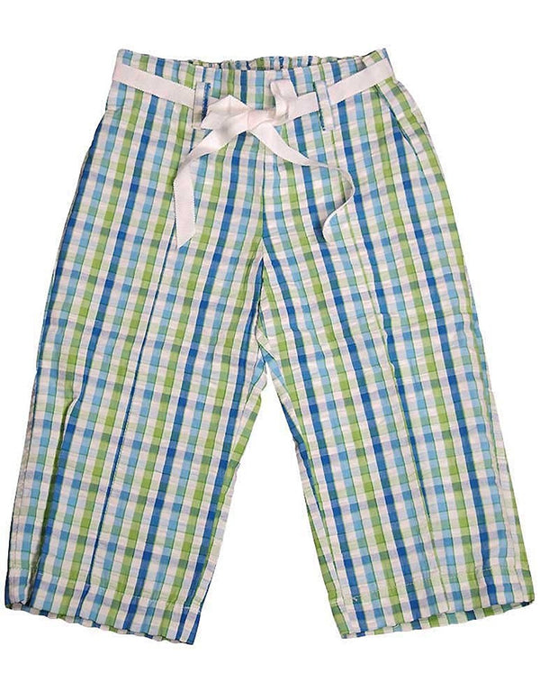Plum Pudding Ltd - Little Girls' Plaid Searsucker Pant