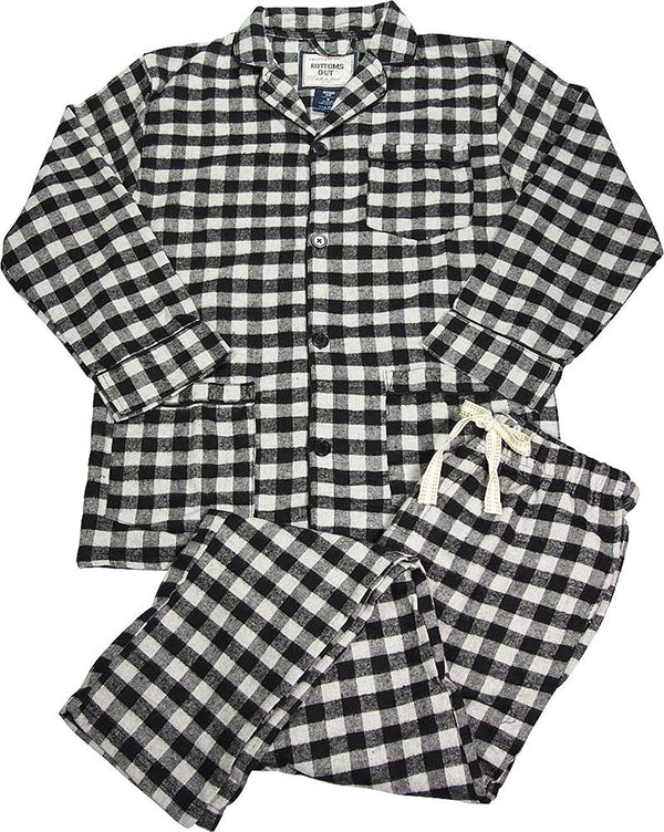 B O P J - Mens Long Sleeve Flannel Pajamas