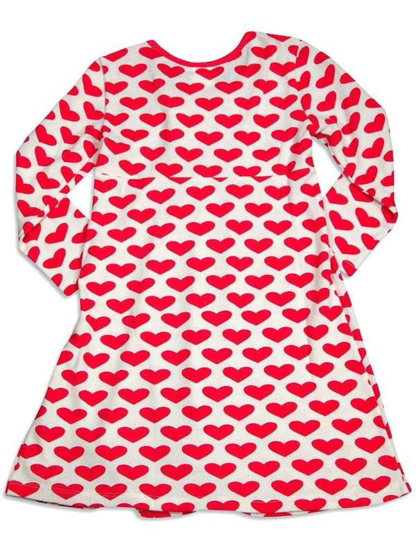 Lipstik Little Girls' - Little Girls' Long Sleeve Heart Dress