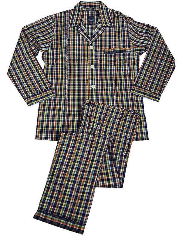 Majestic International - Mens Long Sleeve Broadcloth Pajamas