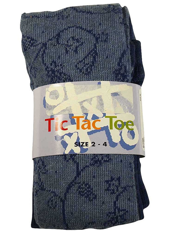 Tic Tac Toe - Little Girls Heavy Floral Vine Cotton Tight
