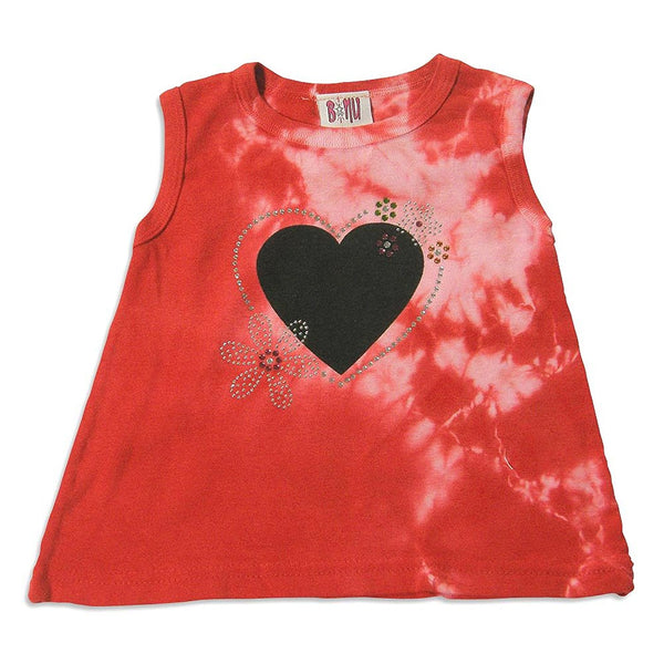 B-Nu by Purple Orchid - Baby Girls Sleeveless Tie Dye Top