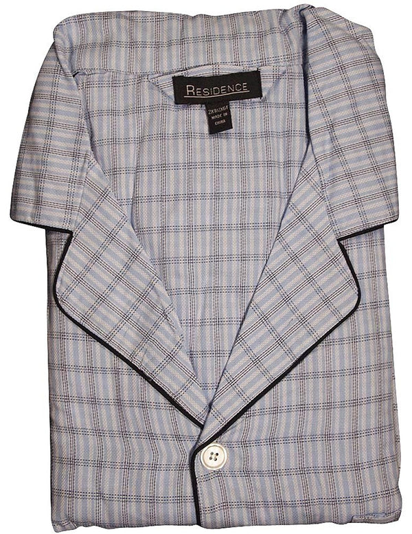 Private Label - Mens Big and Tall Woven Plaid Long Sleeve Pajamas