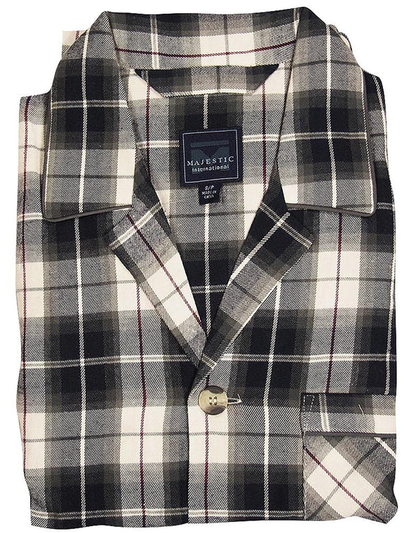 Majestic International - Mens Long Sleeve Flannel Pajamas