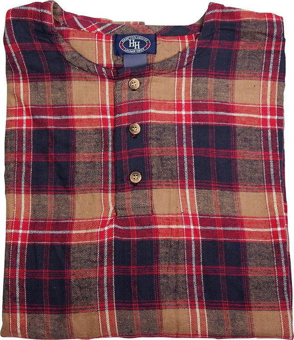 Hampton House - Mens Long Sleeve Flannel Lounge Top