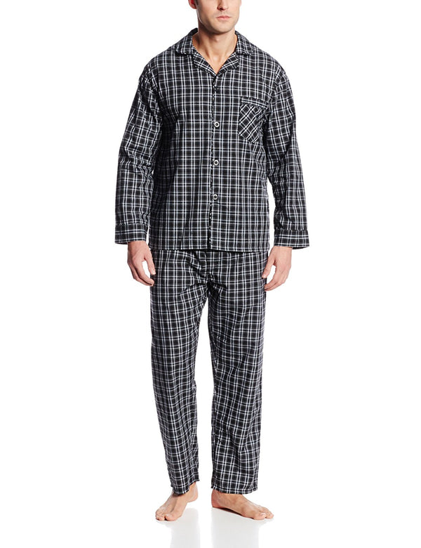 Hanes Men's Broadcloth Pajama Set