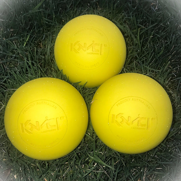 Konvict 3-Pack Yellow Lacrosse Balls