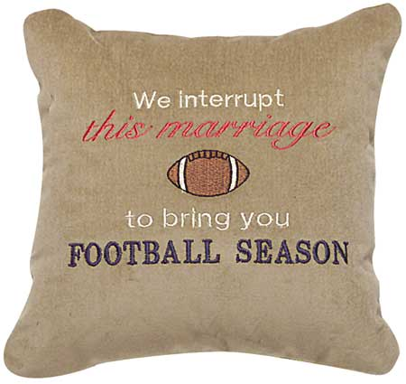 We interrupt this marriage to bring you Football Season