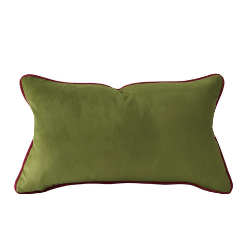 "Olive Green Lumbar Pillow Cover 13""x22"""