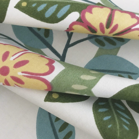 Spring Hue Floral Print Cotton Fabric - 54""