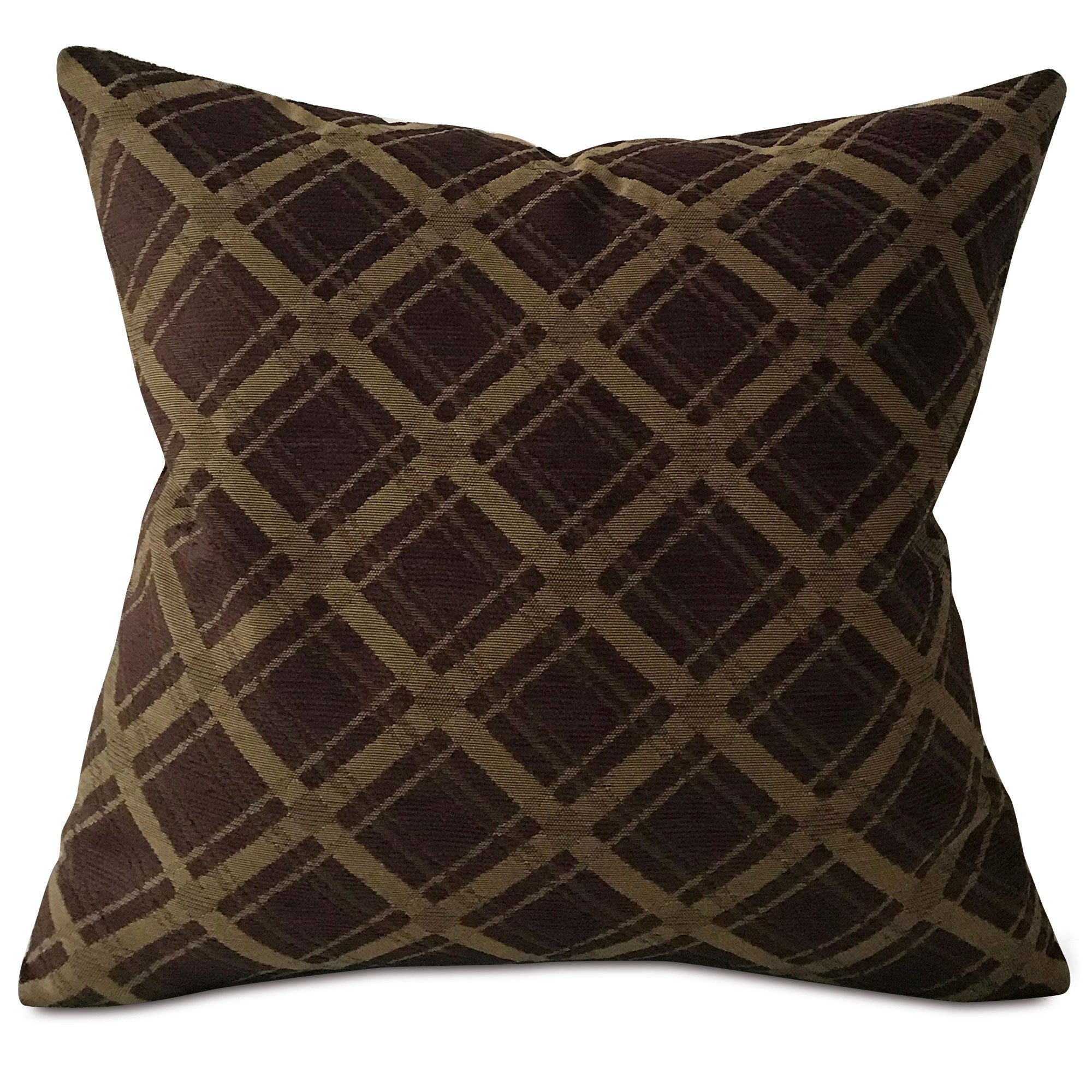 Dark Brown Modern Geometric Throw Pillow Cover 22 X22 Plankroad Home Decor