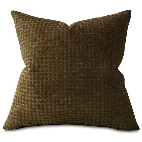 "Brown Textured Woven Throw Pillow Cover 22""x22"""