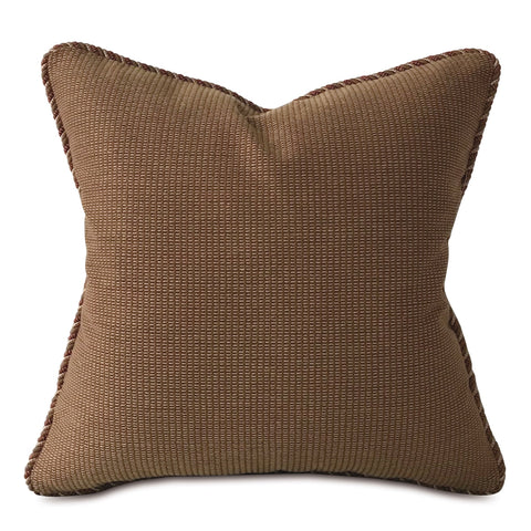 "Earth Tone Woven Textured Throw Pillow Cover 20""x20"""