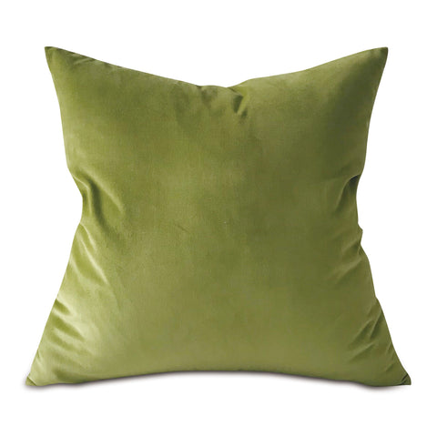 "Fern Green Lux Velvet Throw Pillow Cover 22""x22"""
