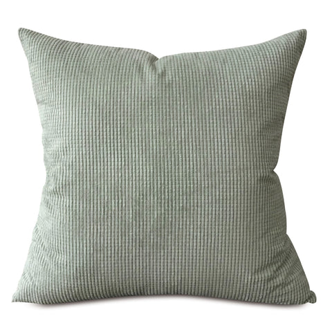 "Spa Gray Blue Textured Throw Pillow Cover 22""x22"""