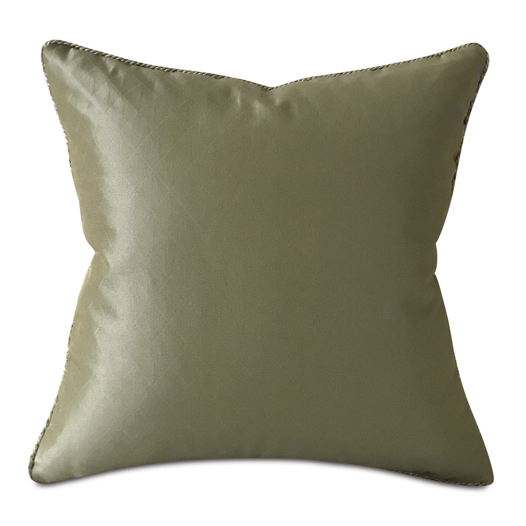 "Lustrous Greenish Taupe Geometric Throw Pillow Cover with Cord 18""x18"""