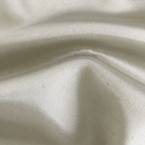 Pure Silk Metallic Taupe Luxury Upholstery Fabric - 44""