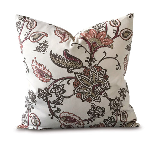 "20"" x 20"" Earthen Flower Decorative Pillow Cover"