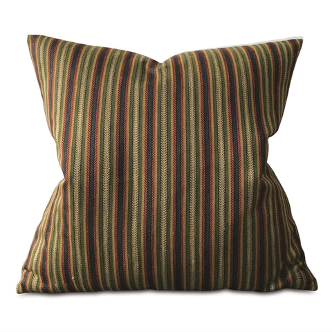 "Multicolored Woven Striped Euro Sham Cover 26""x26"""